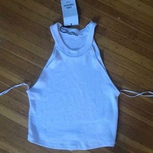 NWT Zara cropped white halter top